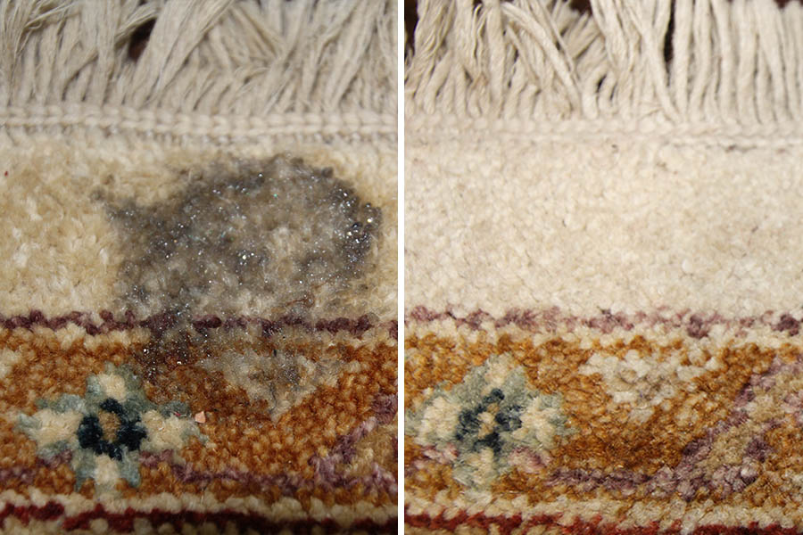 Rug Stain Removal before and after